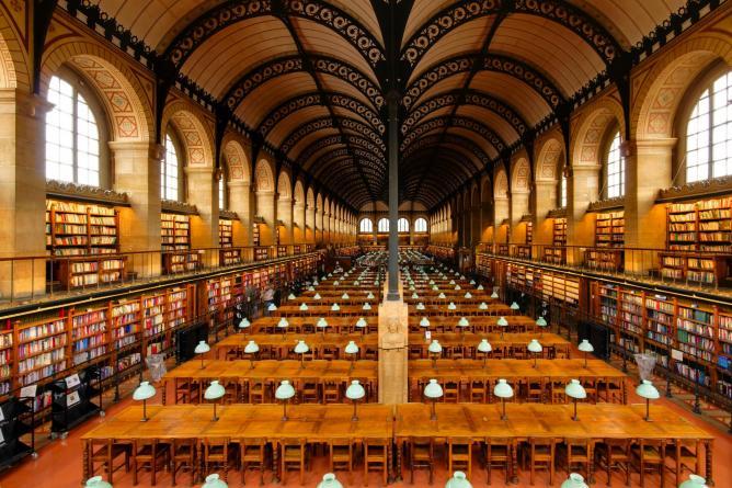 Bibliothèque Sainte-Geneviève   © Marie-Lan Nguyen/WikimediaCommons