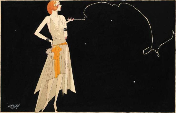 Where There's Smoke There's Fire by Russell Patterson portraying a Flapper | ©WikiCommons
