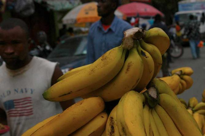 Fresh Mwanza bananas | © Claire Baker