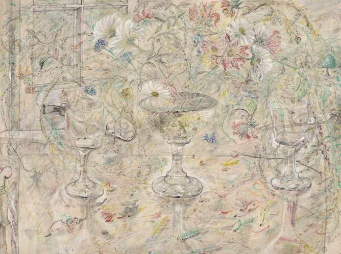 David Jones, Flora in Calix Light, 1950, watercolour, Kettle's Yard, University of Cambridge | © Trustees of the David Jones Estate