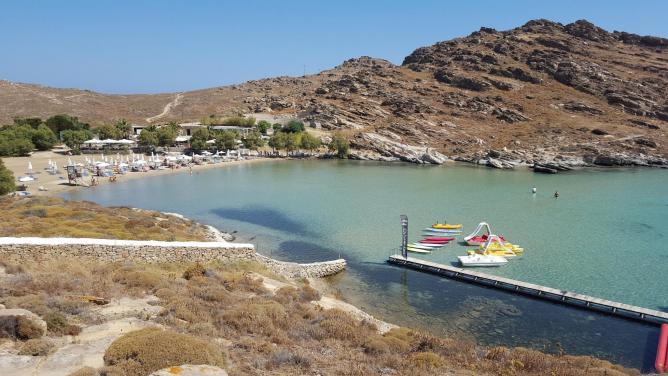 The quiet beach of Ai Yannis
