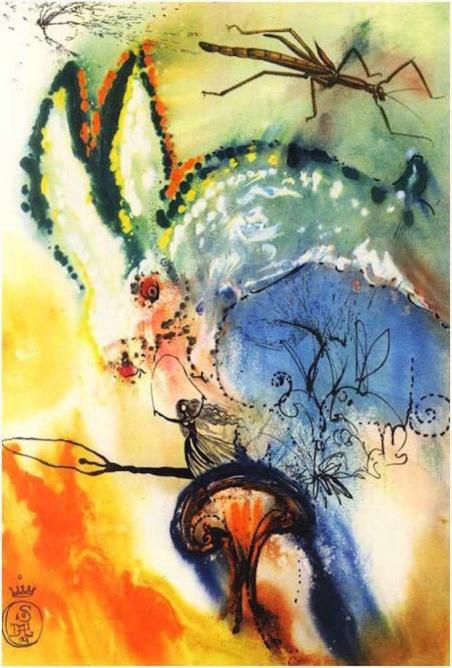 Illustration from Alice's Adventure's in Wonderland | © Salvador Dalí/Maecenas Press-Random House