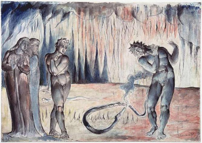 The Serpent Attacking Buoso Donati | © William Blake