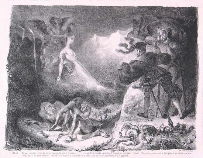 Margaret's Ghost Appearing to Faust | © Eugène Delacroix