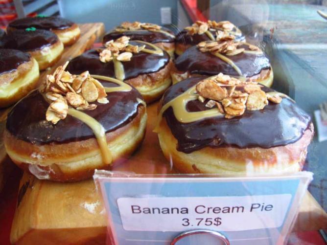 Banana Cream Pie Doughnut | Couresy of the Kiku Corner Sisters