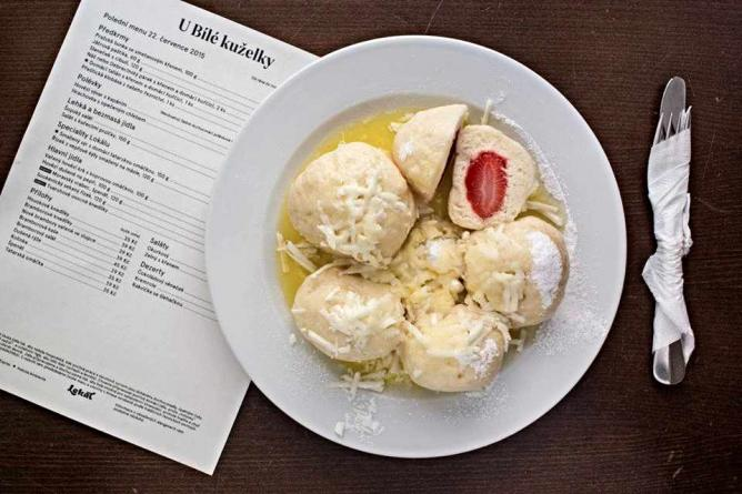 Lokál White Bowling-Curd Fruit Dumplings I Courtesy of Lokál Restaurants