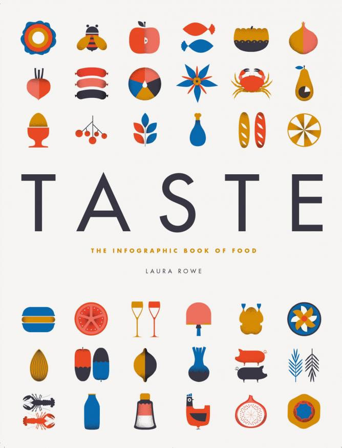 Taste: The Infographic Book of Food by Laura Rowe, illustrations by Vicki Turner