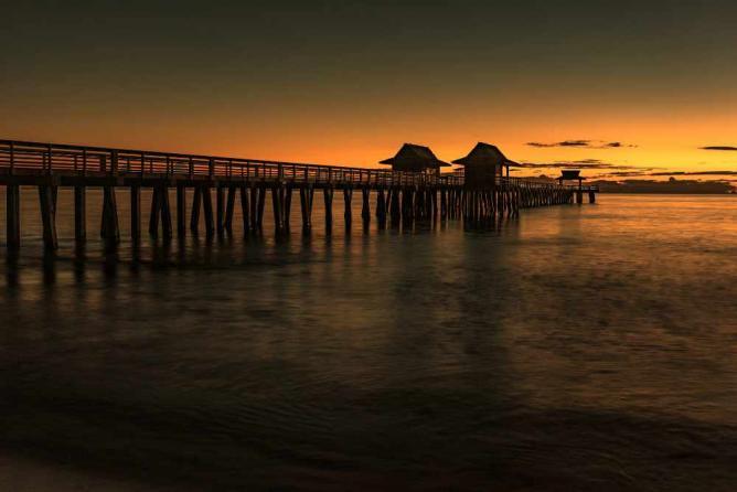 Naples Pier at Sunset, Naples, Florida