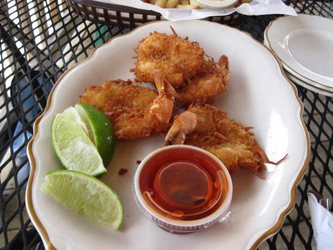 Everglades City - Gambas frites à la noix de coco
