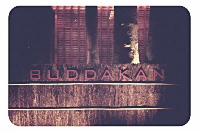 The front entrance sign to Buddakan in Atlantic City.
