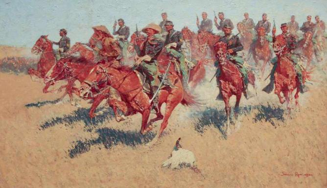 Frederic Remington, On the Southern Plains, 1907