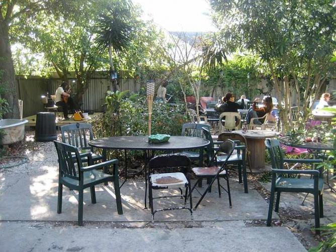 Guitarist In Back Yard Of Bacchanal Wine Bar U0026 Restaurant, Bywater Section  Of New Orleans