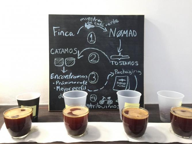 A coffee tasting at Nømad | Courtesy of Nømad Coffee