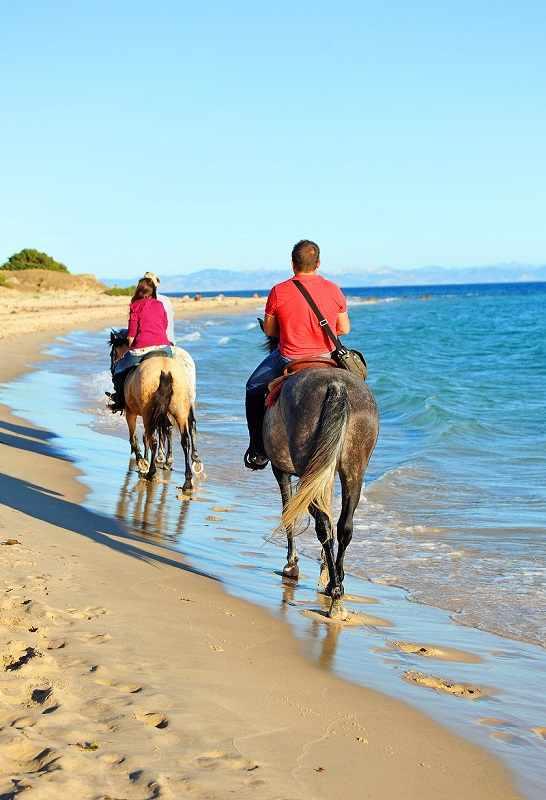 Riders on Huelva Beach