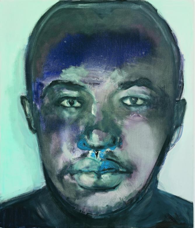Marlene Dumas, Moshekwa, 2006, oil on canvas, 130 x 110 cm, Private collection, Brussels, Belgium | Photo Peter Cox, Courtesy Zeno X Gallery, Antwerp, Belgium, and Stedelijk Museum, Amsterdam, and Marlene Dumas.