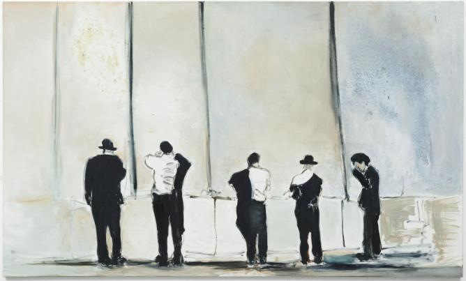 Marlene Dumas, 'The Wall' (2009), oil on linen, 180 x 300 cm, Gayle and Paul Stoffel collection | Photo Peter Cox, Courtesy Stedelijk Museum, Amsterdam, and Marlene Dumas.