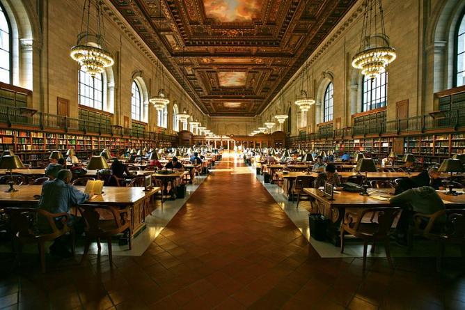 Grand Study Hall, New York Public Library
