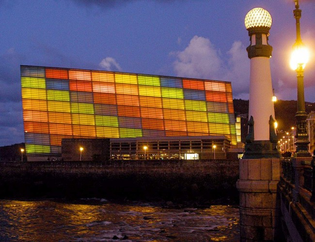 San Sebastian's Kursaal Congress Center and Auditorium, home to the city's film festival