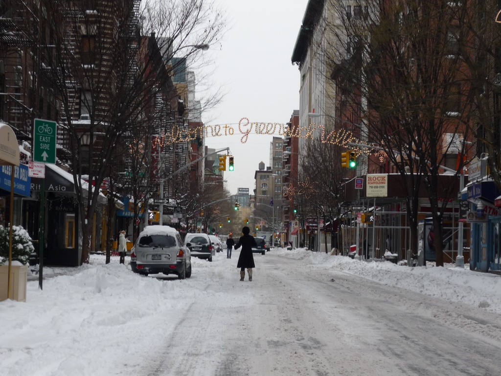 Snowy Greenwich village, NY ©Teri Tynes