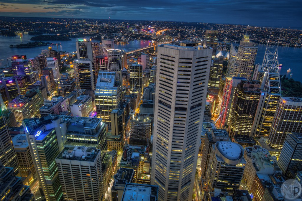 Nighttime from Sydney Tower Eye ©Matthew J Photos