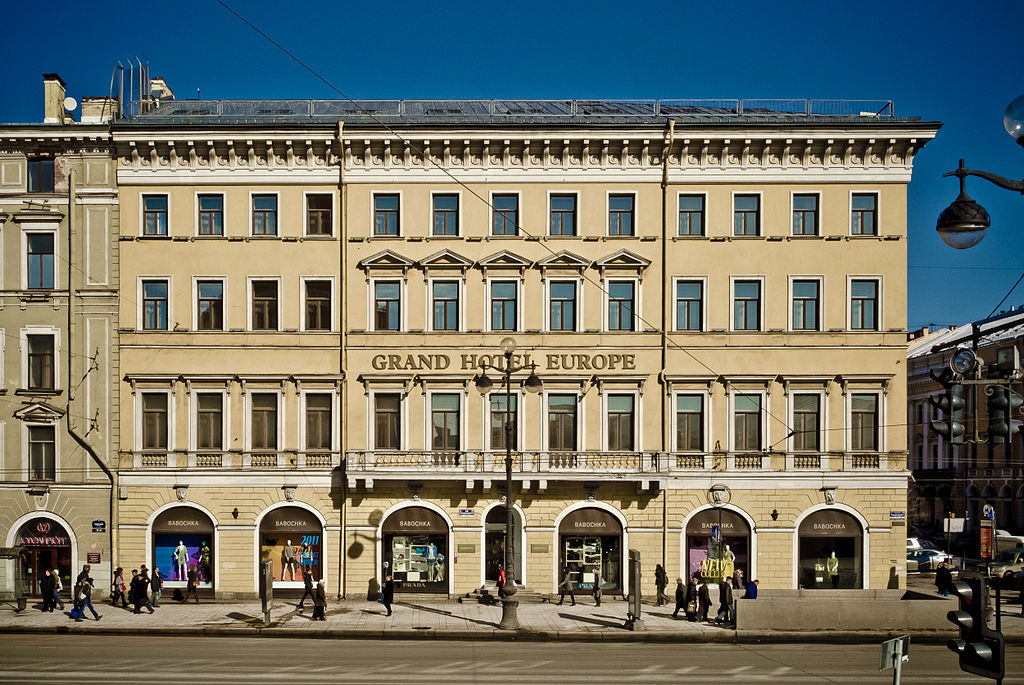 Top 10 hotels in st petersburg for Design hotels wiki
