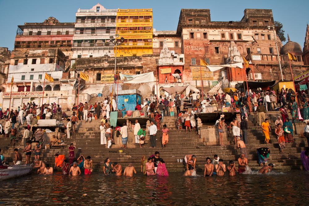 Hindu pilgrims take holy bath in the river ganges on the auspicious Maha Shivaratri festival | © neelsky/Shutterstock