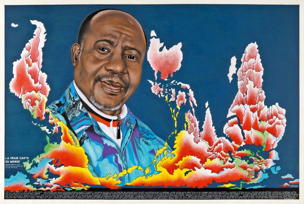 La vraie carte du monde 2, 2011 - 132 x 200 cm - Acrylique et paillettes sur toile