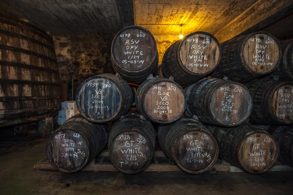 Sherry barrels in Jerez bodega, Spain © Javarman / Shutterstock