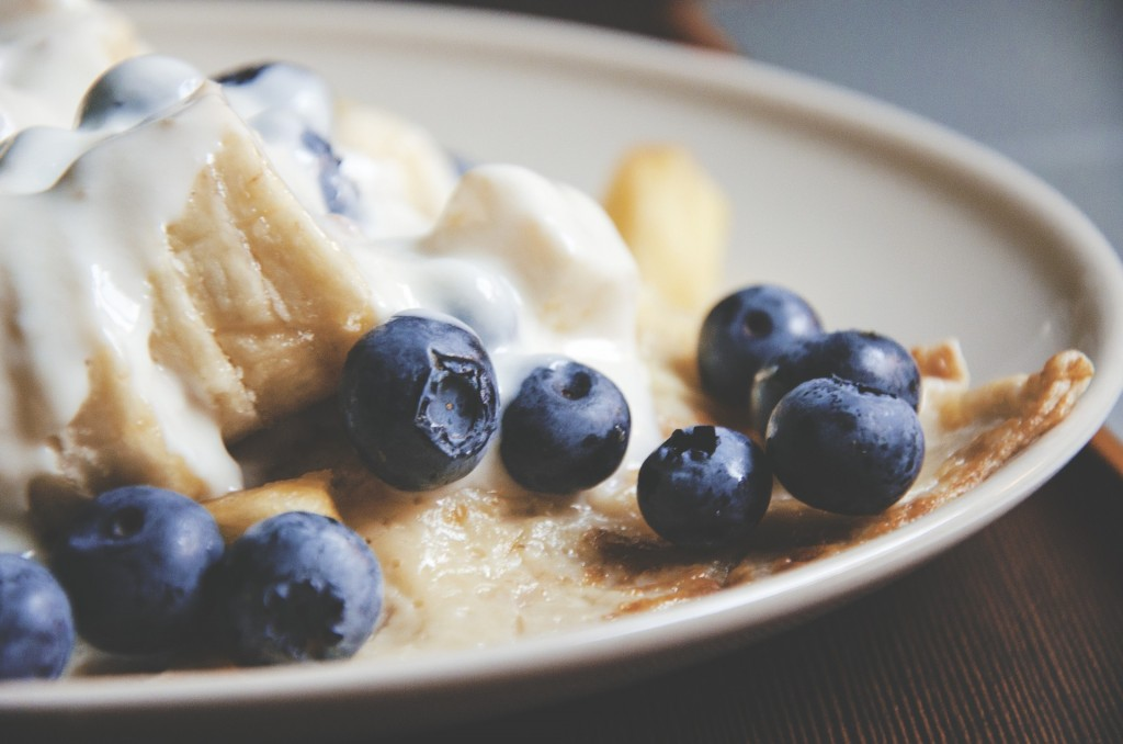 American style pancakes with blueberries ©Pixabay