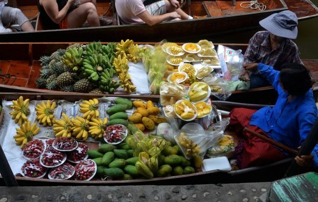 Fruit boats, Thailand
