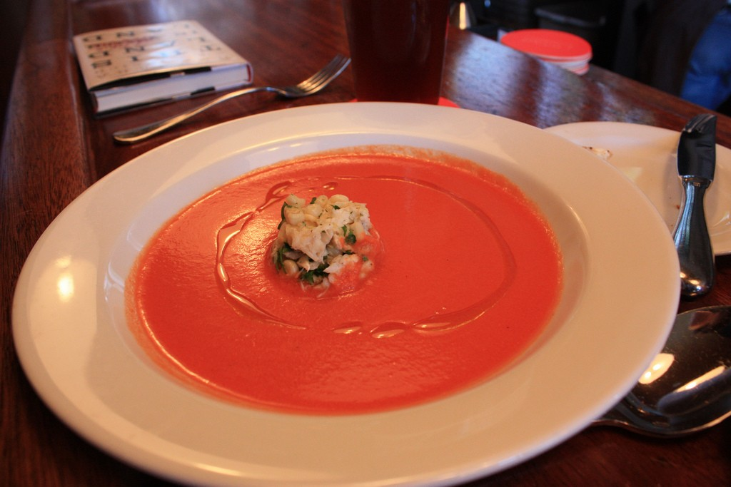 Tomato Bisque with Crab ©T. Carrigan