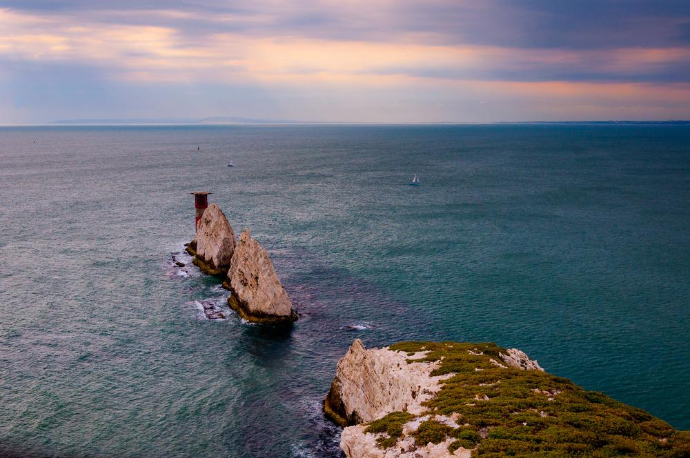 The Needles, lighthouse, Isle of Wight, UK ©Martin w Wright / Shutterstock