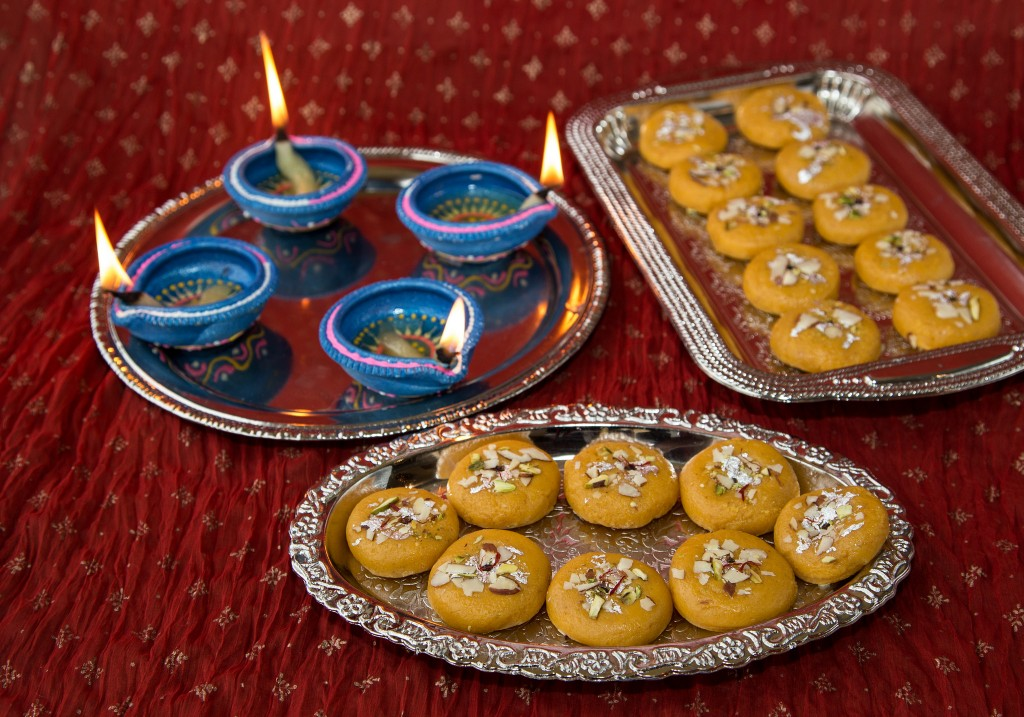 Peda and Diya, Indian Desserts | ©Abhinaba Basu/Flickr