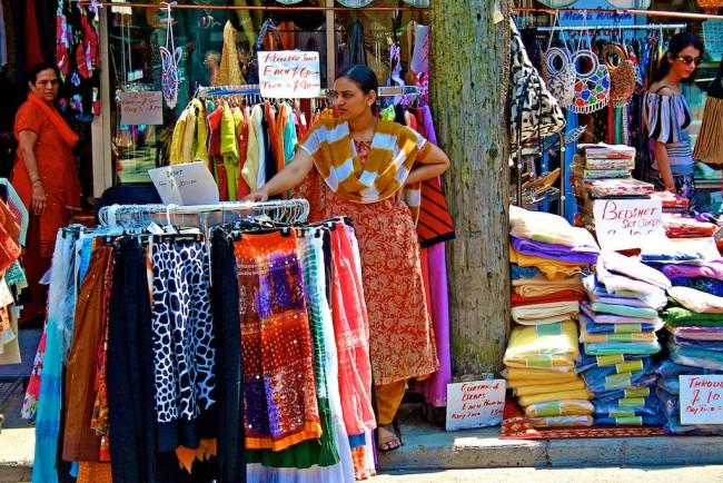 Sidewalk Sale in Toronto's Little India © Don Gunn