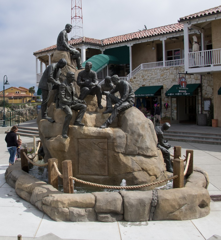 Cannery Row Monument was sculpted by local artist Steven Whyte © Ed Bierman