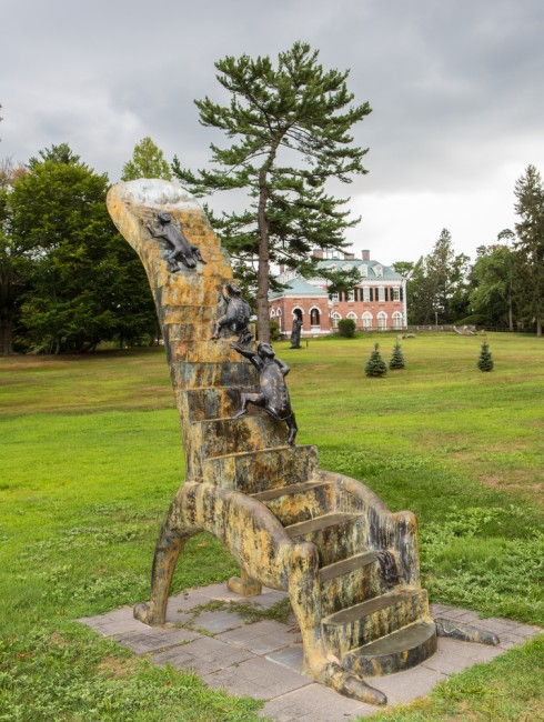 "Art sculptur ""Stairway to Heaven"" by artist Alejandro Colunga locaded at Nassau County Museum of Art 