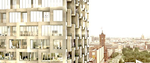 Residential building at Alexanderplatz | © Courtesy of Kleihues + Kleihues