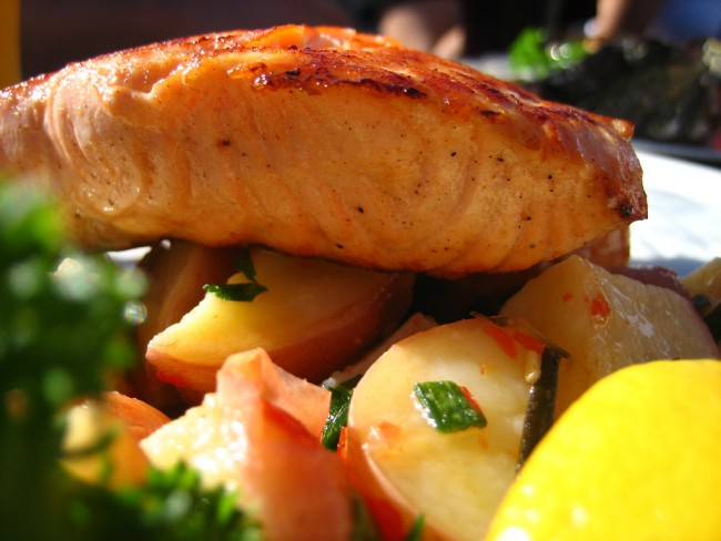 Salmon and Potatoes | ©Jeremy Keith/Flickr