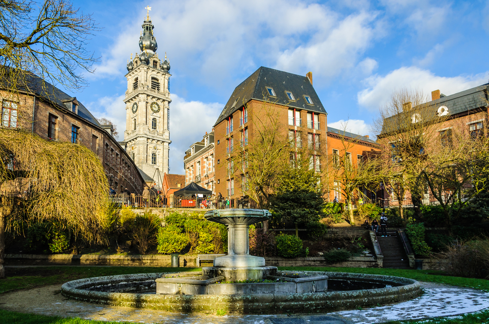 Bell Tower In Mons The European Capital Of Culture 2015 Belgium