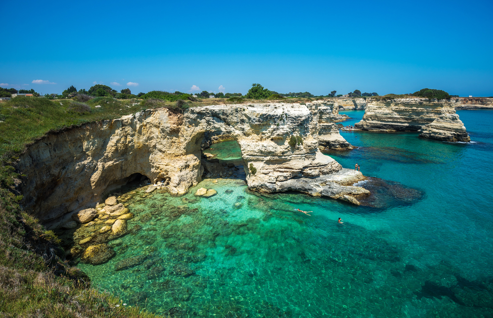 Torre Sant Andrea, Rocky beach in Puglia, Italy © javarman / Shutterstock