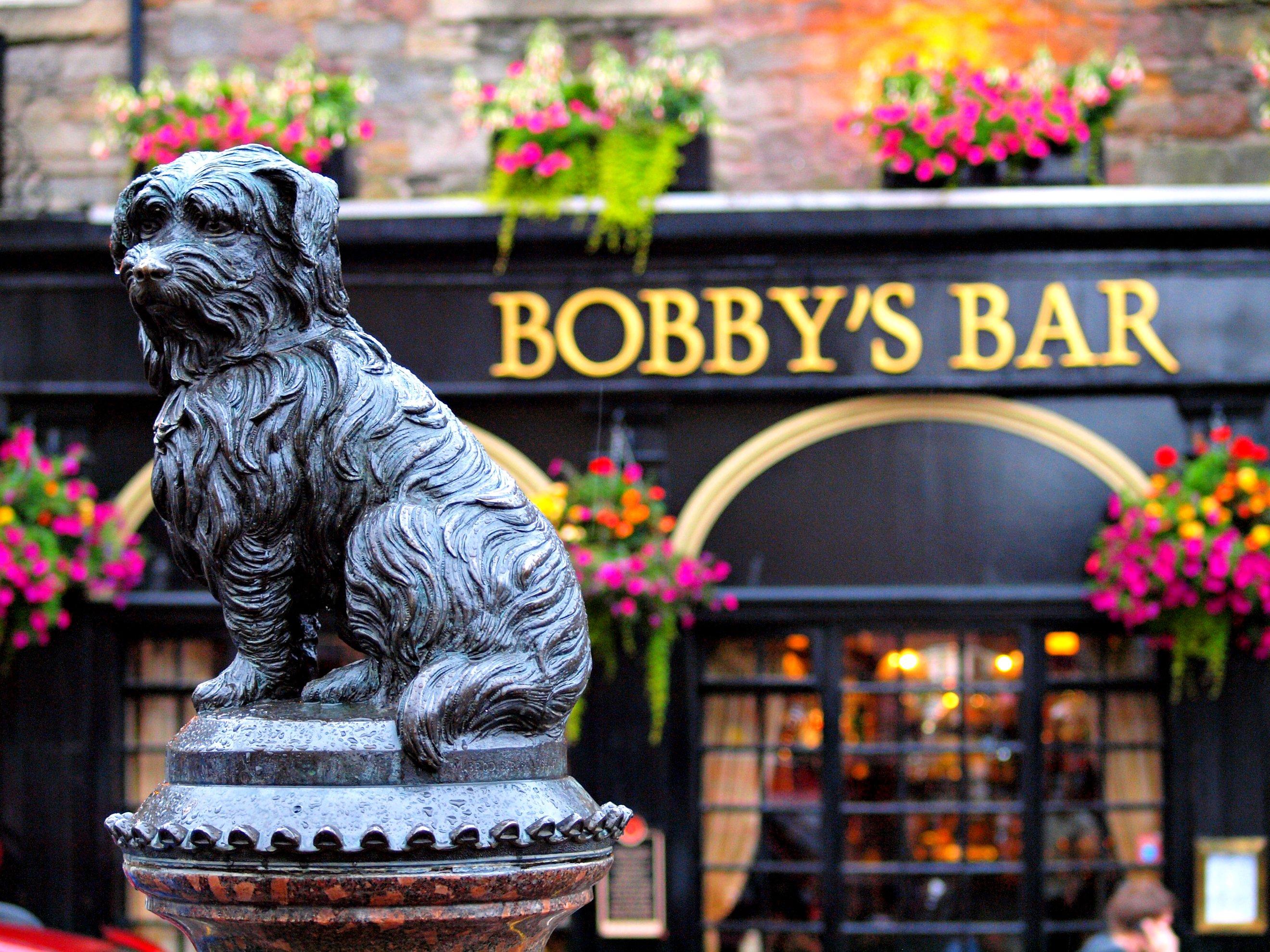 Greyfriars Bobby in Edinburgh Scotland © zoetnet