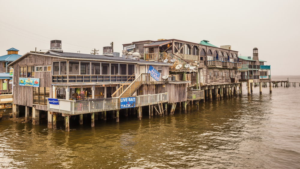 Waterfront buildings on stilts in the historic downtown Cedar Key| © Nick Fox/Shutterstock