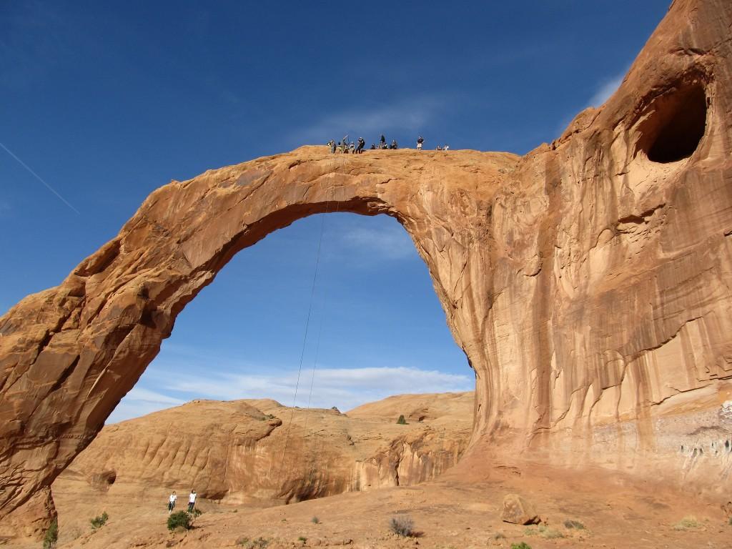 Rope Swingers, Corona Arch, Near Moab | ©Ken Lund/Flickr
