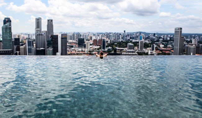 The Infinity Pool at the Marina Bay Sands in Singapore © Shayne Fergusson