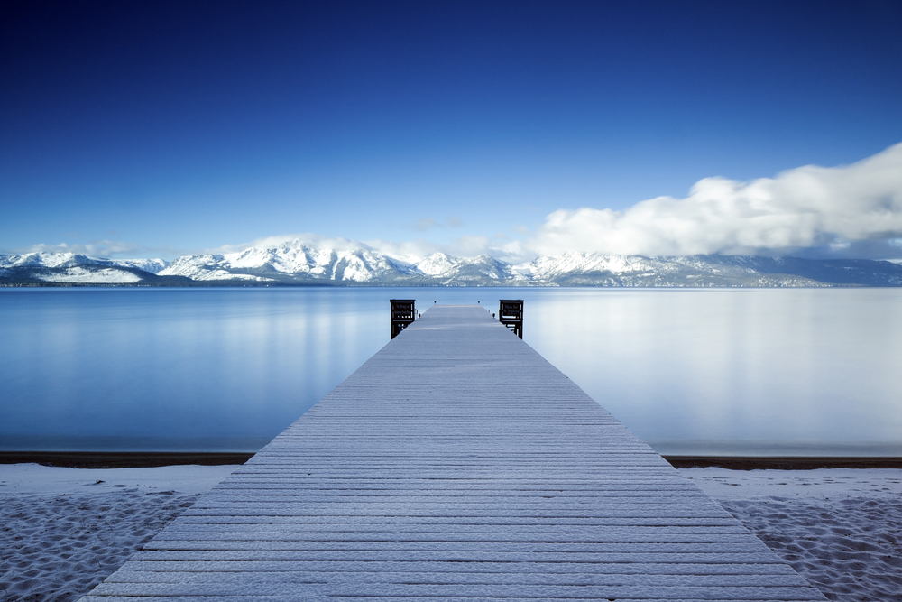 Lake Tahoe Snowy Pier © matt_train / Shutterstock