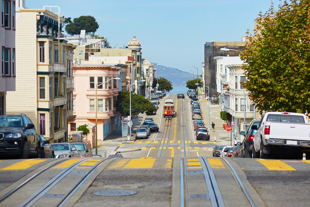 Cable car in San Francisco, California, USA © Ekaterina Pokrovsky / Shutterstock