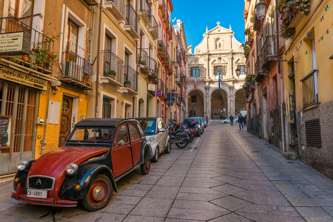 Stunning back street in Cagliari | Rsphotograph/Shutterstock