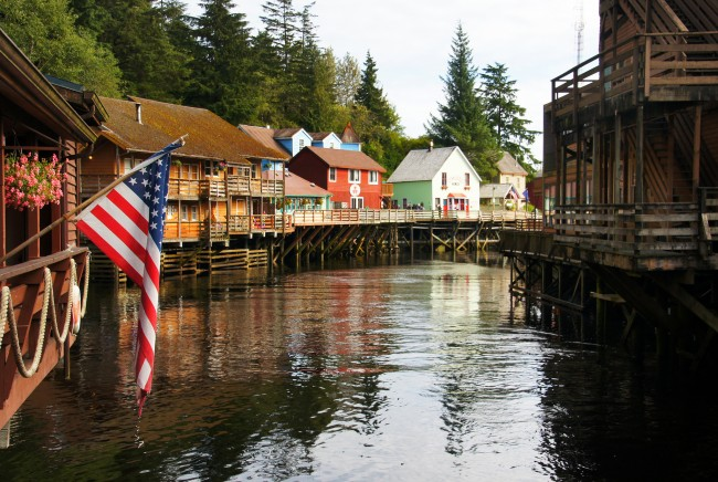Idyllic Creek Street, Ketchikan, Alaska| ©Bernard Spragg. NZ/Flickr