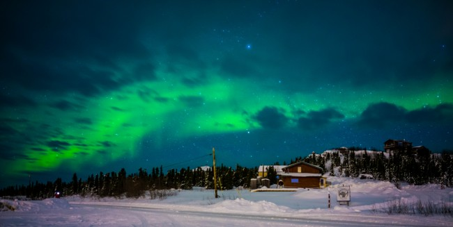 Aurora Lights, Fairbanks Alaska | ©Ron James/ Flickr