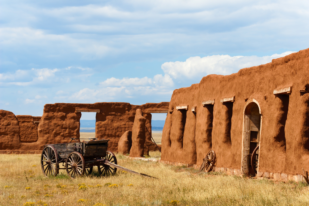 Fort Union National Monument in Old Santa Fe Trail in Trindad Colorado © Sumikophoto / Shutterstock